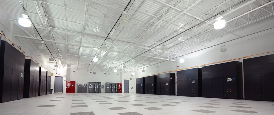 Completed view of one of the data center rooms