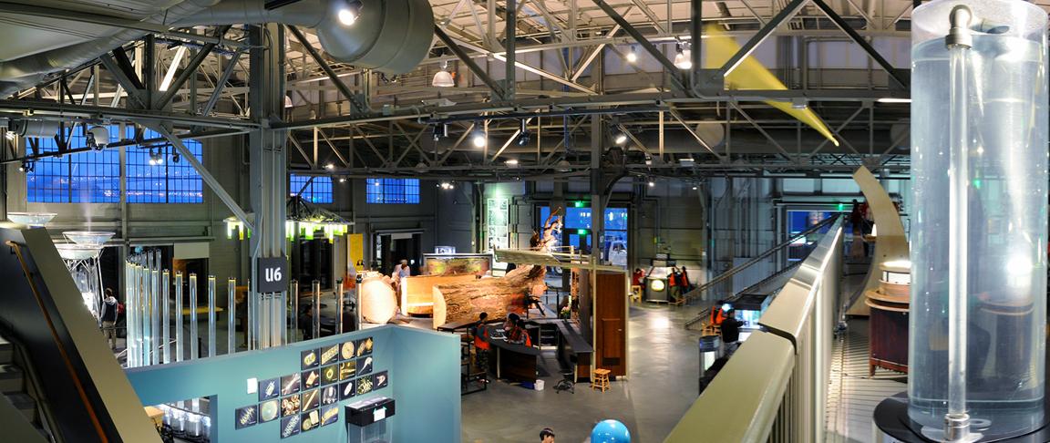 View of the open exhibit floor